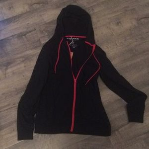 Brand new Black & red zip up jacket  w tags
